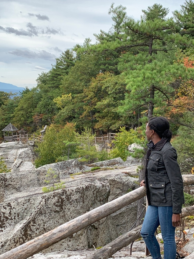 Shadia looking down on mohonk